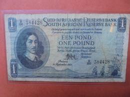 AFRIQUE DU SUD 1 POUND 1951 CIRCULER (B.3) - Zuid-Afrika