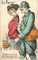 Themes Div-ref BB263- Guerre 1914-18- Illustrateurs - Illustrateur - Griff - Couples - Couple - En Permission - - Guerre 1914-18