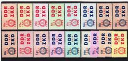 YZO81 DDR 1964 LAUFKONTROLLZETTEL ZKD Michl 16/30 (*) FALZ  ZÄHNUNG Siehe ABBILDUNG - Service