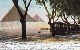 CPA   EGYPTE---PYRAMIDS---1907 - Egypt