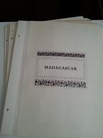 Lot N° 612 MADAGASCAR Sur Page D'albums Neufs *  50 % De Timbres Collés Ou Adhérés - Collections (en Albums)