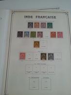 Lot N° 611 INDES FRANCAISE  Sur Page D'albums Neufs *  Des Timbres Collés Ou Adhérés Au Debut - Collections (en Albums)