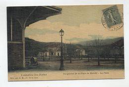 34 - LAMALOU Les BAINS - Perspective De La Place Du Marché - La Poste - Peu Courante - - Lamalou Les Bains