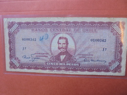 CHILI 5 ESCUDOS/5000 PESOS 1960-61 CIRCULER (B.3) - Chili