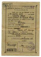 Carte Grise Recepissé De Declaration 1948 Creuse Pour Une Citroen Type 10 Torpedo 10CV - Non Classés