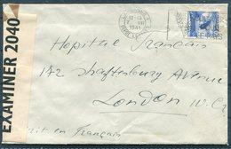 1941 Switzerland Lausanne Censor Cover - Hopital Francais / The French Hospital, Shaftesbury Avenue, London - Switzerland