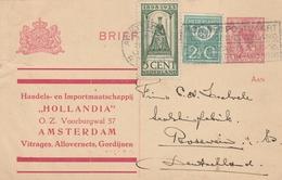 Pays Bas Entier Postal Privé Pour L'Allemagne 1924 - Entiers Postaux