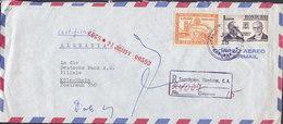 Honduras 'MADAX' Central American Lumber Registered Certificado TEGUCIGALPA 1963 Cover Letra DEUTSCHE BANK, KÖLN Germany - Honduras