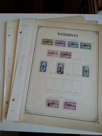 Lot N° 608 OUBANGHIE ET COTE D'IVOIRE Collection Sur Pages D'albums Neufs * , 50 % De Timbres Collés Ou Adheres - Collections (en Albums)