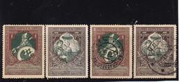 # Z.10003 Russia 1914, Incomplete Set Color Paper L 13 1/2, (x), Used, Michel: 99C, 101C: War Charity - 1857-1916 Empire