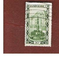 SAAR (SARRE) - SG 112 - 1927  FOUNTAIN ST. JOHANNE, SAARBRUCKEN  - USED - 1920-35 Società Delle Nazioni