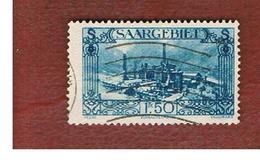 SAAR (SARRE) - SG 118 - 1927 BURBACH STEELWORKS  - USED - 1920-35 Società Delle Nazioni
