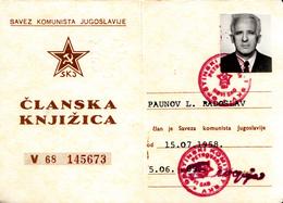 COMUNIST PARTY OF YUGOSLAVIA  1958 - Documenti Storici