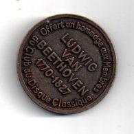 Médaille - Beethoven - Club Du Disque Classique-voir état. - Frankreich