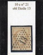 Paris - N° 21 Obl étoile 13 - 1862 Napoléon III