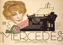 @@@ MAGNET - Mercerdes Schreibmaschine - Advertising