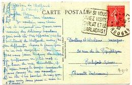 DORDOGNE - Dépt N° 24 = SARLAT 1932 = FLAMME DAGUIN ' AH ! SI VOUS AVIEZ VISITE / SARLADAIS ' - Postmark Collection (Covers)