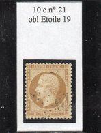 Paris - N° 21 Obl étoile 19 - 1862 Napoléon III