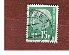SAAR (SARRE) - SG 412 - 1957  PRESIDENT HEUSS 15 F - USED - 1957-59 Federazione