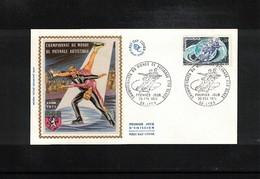 France 1971 World Skating Championship FDC - Skateboard