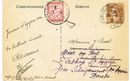 CONVOYEUR ST VALERY EN CAUX A MOTTEVILLE SUR CPA TAXE - Marcophilie (Lettres)