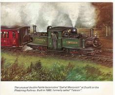 "Locomotive ""Earl Of Merioneth"" At Dduallt. Ffestiniog Railway. Card Collection Of Brook Motors - Wales"