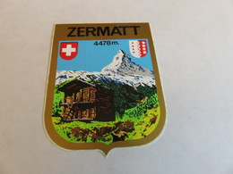 Ecusson Autocollant ZERMATT - Adesivi