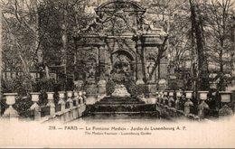 PARIS  LA FONTAINE MEDICIS  JARDIN DU LUXEMBOURG - Arrondissement: 08