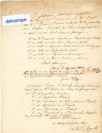 DOCUMENT ANCIEN  - AURAY 1843 -  Reçu De Titres De Propriétés - - Manuscrits