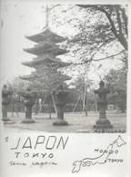 PHOTO SIGNEE  ROBILLARD N° 1 ORIGINALE ANCIENNE DE 15CM/11CM : TOKYO UNE PAGODE  HONDO JAPON - Lieux