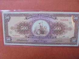 PEROU 500 SOLES 1965 ASSEZ RARE- CIRCULER (B.3) - Pérou