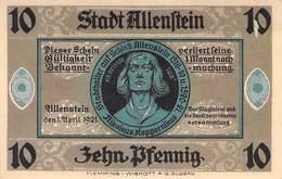 10 Pfg. Notgeld Allenstein AU/EF (II) - Lokale Ausgaben