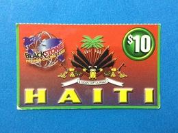 HAITI SCHEDA TELEFONICA PREPAGATA USATA USED PREPAID PHONE CARD $ 10 - Haiti
