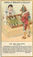 - Chromos- Ref-chA383- Chocolat Debauve Et Galllais - Tom Tit - Les Dés Roulants - Prestidigitation - Chocolat