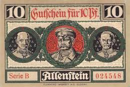 10 Pfg. Notgeld Allenstein UNC (I) - Lokale Ausgaben