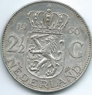 Netherlands - Juliana - 1960 - 2½ Gulden - KM185 - [ 3] 1815-… : Kingdom Of The Netherlands