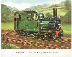 "Locomotive ""The Earl Of Llanfair"" Welshpool And Llanfair Light Railway, Card Collection Of Brook Motors - Montgomeryshire"