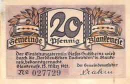 20 Pfg. Notgeld Blankenese VG/G (IV) - Lokale Ausgaben