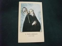 SANTINO HOLY PICTURE IMAGE SAINTE   S. PETER BENEDICTE M. MAZZAROPPI MONTECASSINO PREGHIERA - Religion & Esotérisme