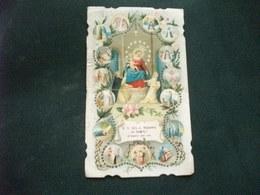 SANTINO HOLY PICTURE IMAGE SAINTE   N. S. DE. S. ROSARIO DI POMPEI ORAZIONE PIEGA CENTRALE - Religione & Esoterismo