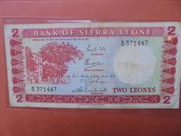 SIERRA LEONE 2 LEONES 1964-70 ASSEZ RARE- CIRCULER (B.3) - Sierra Leona