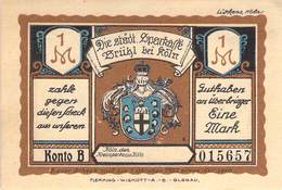 1 Mark Notgeld Brühl AU/EF (II) - Lokale Ausgaben