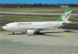 Mahan Air  A310EP-MHH Teheran, Iran Aviation Airways Airlines Aereo Avion Aircraft Aiplane At Dusseldorf - 1946-....: Era Moderna