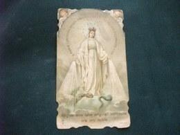 SANTINO HOLY PICTURE IMAGE SAINTE   MARIA SS.PREGHIERA 9117 PIEGA ANGOLO - Religion & Esotericism