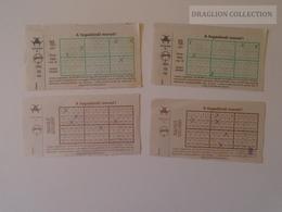 KA406.19  Lot Of 4 Lottery Tickets -  Hungary Ca 1991 - Lottery Tickets