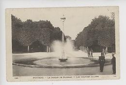 Poitiers : Le Jardin De Blossac - Les Grandes Allées (cp Vierge N°140) - Poitiers