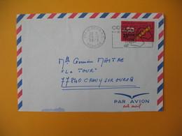 Lettre De La Réunion CFA  1973  N° 411  Code Postal  Saint Denis Pour La France - Reunion Island (1852-1975)