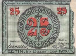 25 Pfg. Notgeld Eutin VG/G (IV) - Lokale Ausgaben