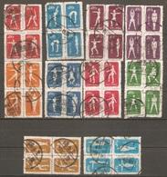 10 Blocs De Quatre 1952 ( Chine ) - Oblitérés