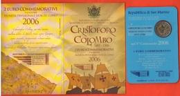 2 Euro Colombo Cristoforo Columbus 2006 San Marino Saint Marin UNC - San Marino